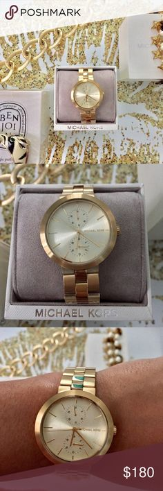Michael Kors Goldtone Garner Watch NWT New in box Michael Kors Garner Watch. Love the simple modern face and sleek bracelet. No trades. Michael Kors Accessories Watches