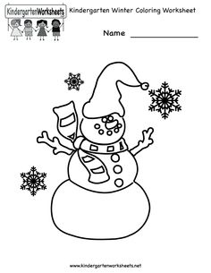 free printable holiday worksheets kindergarten winter coloring worksheet printable - Colouring Worksheets For Kindergarten