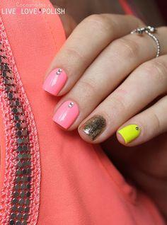 Neon nails #cocosnailss #neon #nails #nailart #summer #skittlette