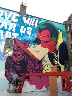 Street art by Cept (?) // Oh my gawsh THEY'RE STREET ART, YO. ^.^ Q: How many of my OTPs have I seen plastered across a wall? A: Not many. As a matter of fact, NONE. Until this. <3