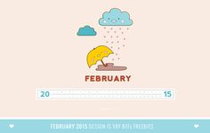 BFF Freebies: February 2015 Wallpaper Calendar Planner | DESIGN IS YAY!