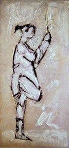 """One Leg Pose"", Mixed medium on Photographic paper, W: x H: W: x H: Framed Oil Paint Medium, Digital Media, Mixed Media, Poses, Artwork, Painting, Figure Poses, Work Of Art, Auguste Rodin Artwork"