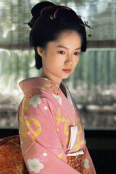 Actress Aoi Miyazaki. Nihongami (traditional japanese hairstyles).