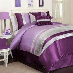 Purple + silver.