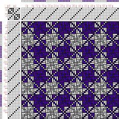 draft image: Figurierte Muster Pl. XXI Nr. 15 (a), Die färbige Gewebemusterung, Franz Donat, 8S, 8T