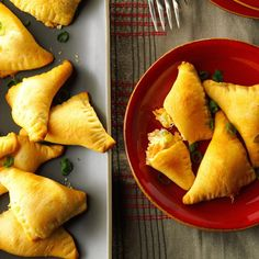 Crab Crescent Triangles Recipe -When some friends who love crab were planning a party, I created this recipe for them. The comforting baked bundles wrap up a cheesy seafood filling in convenient crescent roll dough. —Noelle Myers, Grand Forks, North Dakota