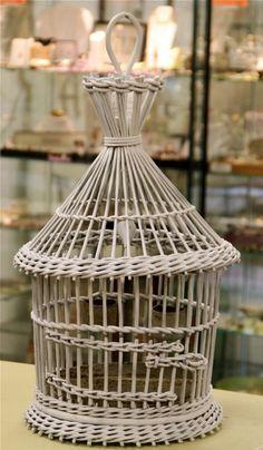 Antique Wicker Bird Cage