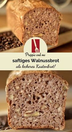 Walnussbrot Kastenbrot Brot saftig einfach lecker schnell Walnuss Nuss N sse nussig Nussbrot fluffig preppie-and-me Preppie and me Krups Prep and Cook Prep Cook Preppie Prepi Sandwich Recipes, Bread Recipes, Cake Recipes, Cooking Recipes, Cooking Cake, Chicken Recipes, Food Cakes, Baking Cakes, Baking Desserts