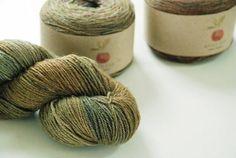 APPLEOAK DOLIN ~ OAK Cloak ~ Hand Dyed Ramie/wool Sock yarn ~ sport weight by appleoakfibreworks. Explore more products on http://appleoakfibreworks.etsy.com