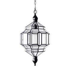 "these lanterns, with their multitude of diamond-shaped panes ('rombus' is derived from the spanish word for diamond), carry the moorish spirit of the spanish city in which they are made, translating it into a modernist silhouette.  36"" link chain  ceiling mount; hardwired, requires professional installation. single socket for type A bulb up to 60w.  standard lead time for this collection is 8-10 weeks.  to view the collection catalog, please click here."
