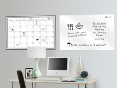 Giant Monthly Calendar and Message Board for $26.99 I NEED these for when I have a homeschool room.