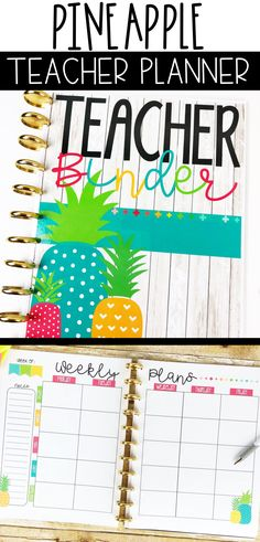 Are you obsessed with all things pineapple? If so, you will love with pineapple teacher binder! It will help keep you organized and it looks great all year long! Teacher Binder, Teacher Planner, Teacher Organization, Organized Teacher, Teacher Stuff, Middle School Classroom, Future Classroom, Classroom Decor, Apple Classroom