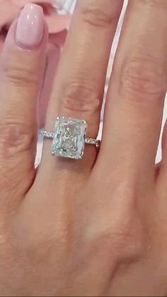 Huge Engagement Rings, Most Beautiful Engagement Rings, Radiant Cut Engagement Rings, Diamond Rings, Gold Rings, Solitaire Rings, Wedding Jewelry, Wedding Rings, Dream Ring