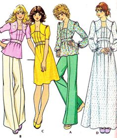 1970s Dress or Top Pattern McCalls 4360 Womens Boho by paneenjerez, $12.00