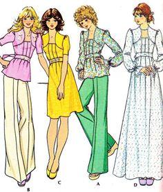 1970s Dress or Top Pattern McCalls 4360 Womens Boho by paneenjerez, $10.00