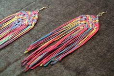 Snazzy crochet earrings :D