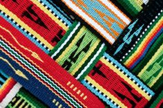 I love this photo of woven sashes woven together.  Woven Dreams has been in production for 17 years, creating vast amounts of Pueblo Tribal Textiles for collections and pueblo ceremonial usage. Weavers within the company have mastered many different weaving styles and techniques such as; plain weave, floated-warp weave, double floated-warp, sprang, semi-brocade, and many twills – diagonal, herringbone, and diamond.