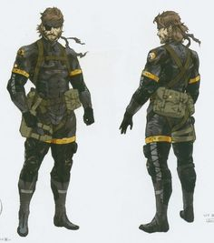 Big Boss in FOX's sneaking suit! I really love this sneaking suit. I have to say, even more than Snake's in MGS:2! x3
