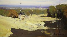 "Paintings   Colley Whisson    ""Summer at Sunbury - VIC, Australia"" - 5"" x 10"""