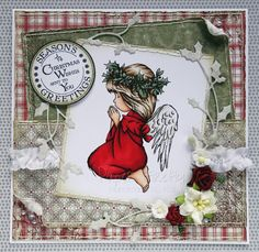 LOTV praying angel card in traditional colours Merry Christmas Card, Christmas Is Coming, Christmas Angels, Christmas Cards, Christmas 2016, Shabby Chic Christmas, Handmade Christmas, Vintage Christmas, Hobby House