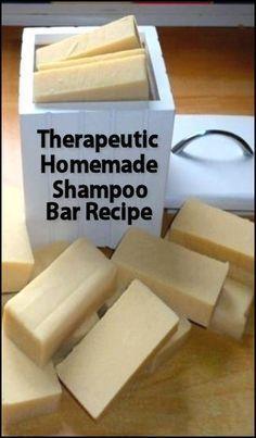 Therapeutic Homemade Shampoo Bar Recipe                                                                                                                                                                                 Más
