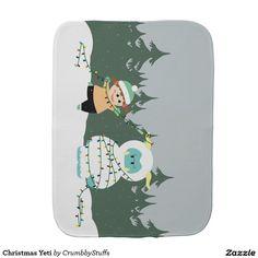 Christmas Yeti Baby Burp Cloth