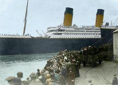 Rms Titanic, Titanic Photos, Titanic History, Ancient History, Titanic Sinking, Tudor History, Fidel Castro, Colorized Photos, Colorized History