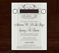 New Years Eve Wedding Invitations By Megan Manning, Via Behance