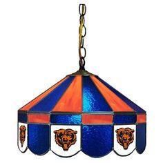 "16"" Glass Lamp - Chicago Bears"