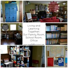 Candid Diversions: Living and Learning Together: Our Family Room, School Room, & Office