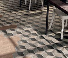 Terra rombo F esagono- master floor tile - CIOT