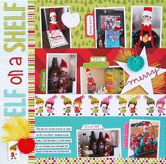 Bella Blvd. Elf on a Shelf Scrapbook Page Idea