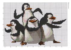 animaux - animals - pingouin - point de croix - cross stitch - Blog : http://broderiemimie44.canalblog.com/
