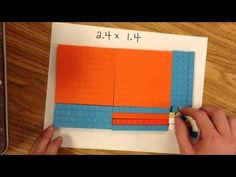 ▶ Multiplying decimals using area model - YouTube