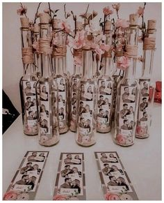 Say I Do to These 25 Stunning Rustic Wedding Ideas Wedding Decor . Barn Wedding Decorations, Rustic Wedding Centerpieces, Bridal Shower Decorations, Wedding Rustic, Wedding Burlap, Burlap Centerpieces, Photo Centerpieces, Wine Bottle Centerpieces, Elegant Wedding