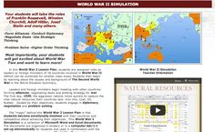 The World War 2 Simulation has students forming alliances, conducting diplomacy, negotiating deals, using strategic thinking and problem solving in the difficult political landscape of 1939-1945.  Students take the roles of leaders and diplomats as countries use all their political and military skills to secure the vital resources their country's economies need. Help your students understand why it all happened.  http://www.historysimulation.com/WorldWarII.html #SSchat #HistoryTeacher