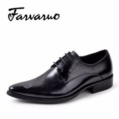 Italian Men's Luxury Real Leather Shoes Men Famous Brand Designers Shoe Male 2017 High Quality Pointed Toe Wedding Dress Oxford