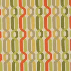 Contemporary Orange Fabric by greenapplefabrics on Etsy, $46.00