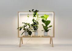 etagere porte plante limbus greenframe eclairage led