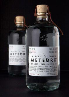 Mezcal Meteoro via @Matt Valk Chuah Dieline