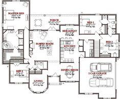 4 Bedroom House Plans Unique House Plans 4 Bedroom For Home Design Ideas Or House Plans 4 Bedroom Floor Plan 4 Bedroom, 4 Bedroom House Plans, Bungalow House Plans, Unique House Plans, Contemporary House Plans, New House Plans, Home Design Plans, Plan Design, Design Ideas