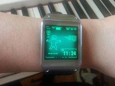 Fallout watch installed in a Galaxy Gear! #wantit #wantit #wantit