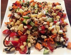 Fitnesssalat mit viel Eiweiß und Vitaminen