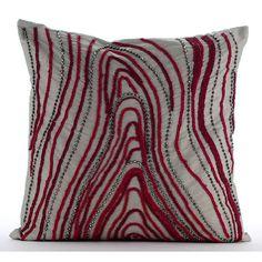 Designer Grey Cushion Covers 16x16 Taffeta Throw by TheHomeCentric