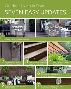 Seven design ideas to enhance your wood deck or patio, creating a stylish and comfortable outdoor living space you'll want to share with friends and family.