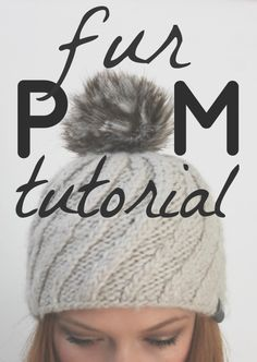 Fur Pom Pom Tutorial - Alida Makes Crochet Beanie, Knitted Hats, Knit Crochet, Crochet Hats, Crochet Stitches, Crochet Hat Tutorial, Pom Pom Tutorial, Faux Fur Pom Pom, Pom Pom Hat
