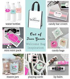 Make sure your out of town guests feel at home at your wedding venue! Leave #wedding welcome bags for them to enjoy upon their arrival with fun gifts inside!
