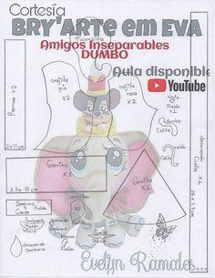 Como hacer a Dumbo en Goma Eva DIY de como hacer a nuestro gran amigo Dumbo en Goma Eva o Fofucho. Con moldes incluidos. Canal: BRY' arte em Eva Materiales: Moldes de Dumbo fofucho: DIY Papá Noel fofucho con moldesDIY Muñeca fofucha profesoraDIY Fofucho de comunión sobre base de libroFofucha bailarina con moldesMuñeca …