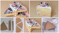 How to make organizer out of cardboard --- In today's tutorial I 'll show you step by step how this organizer cardboard shaped cake or pie is made.I'm going to use as a storage box makeup but you can use it to organize what you want . It is an organizer of kawaii style can be a good