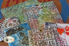 Tutorial: Embossed Foil Tiles and Pendants - Use my crackle gloss